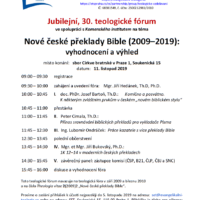 Teologické fórum 2019
